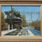 This painting was done some time ago and copies were sold as the Fishawack Festival poster.  NJ's electric trains and all the apparatus are fascinating to me.