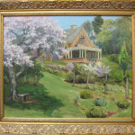 "Wisner House, Reeves-Reed Arboretum,  canvas size-16"" x 20""/ framed size-20"" x 24"""